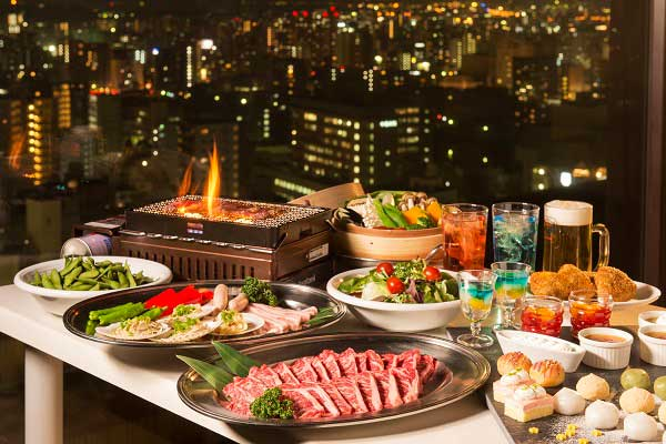 網焼きビーフ&デザートが食べ放題!『ANAクラウンプラザホテル広島 スカイビアレストラン』5月1日オープン