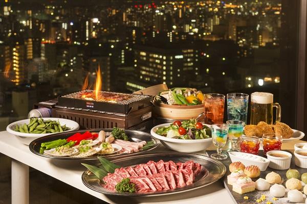 網焼きビーフ&デザートが食べ放題!『ANAクラウンプラザホテル広島・スカイビアレストラン』5月1日オープン