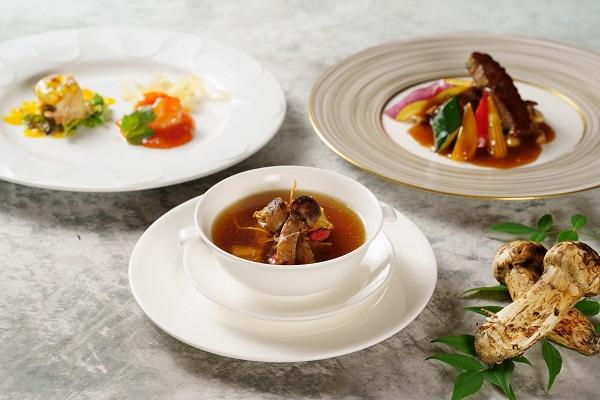 【桃李ディナー】秋の味覚松茸と牛フィレのコース