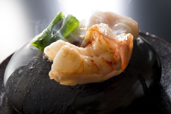 【雲海ディナー】冬の味覚の石焼きコース