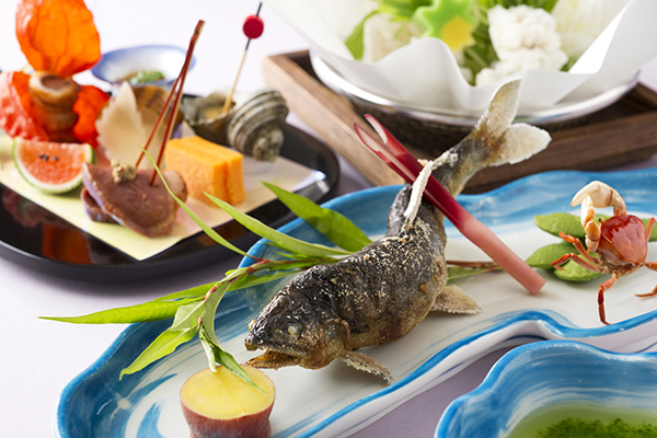 【雲海ディナー】鮎と鱧しゃぶの涼風味覚コース