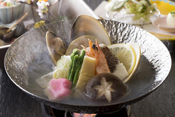 【雲海ディナー】春の祝い肴と海鮮ちり蒸しコース