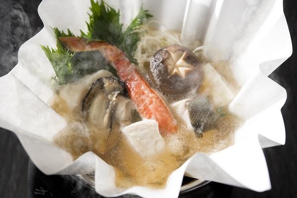 冬の海鮮紙鍋コース