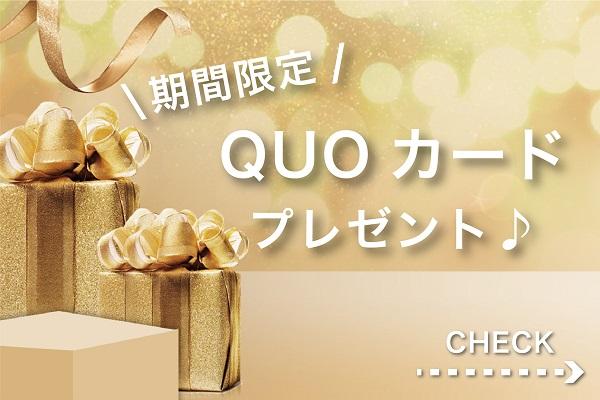 今だけ!お得で便利なQUOカードプレゼント♪