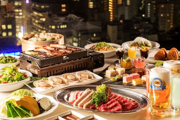【お肉&デザート食べ放題】スカイビアガーデンでカンパイ!プラン(夕・朝食付)