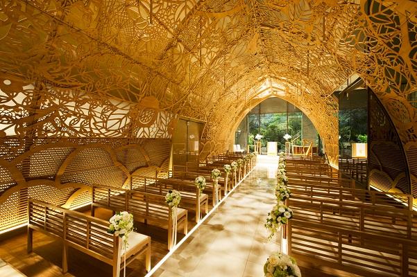 木もれ陽のチャペルが「息をのむほど美しい日本の美しいチャペルベスト100」に選出されました